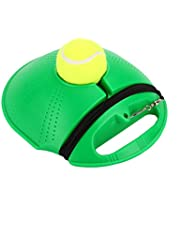 TOPmountain Tennis Trainer-Tennis Equipment,Tennis Ball Trainer,Practice Training Tool Sport Exercise, Tennis Base with A Rope Self-Study Tennis Rebound Player with Trainer Baseboard