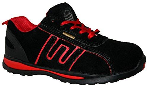 Dessus Sécurité Gr86 À En Footwear Cuir Lacets Embout Sensation Acier De Homme Rouge nbsp;léger Chaussures wqBHpTI4O
