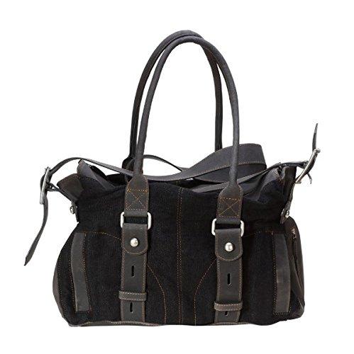 Damen - Leder Handtaschen 300011 Schwarz