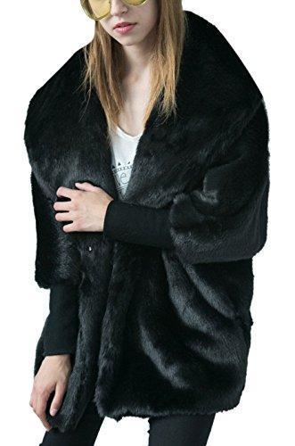 V-Neck Womens Fur Coat - 4
