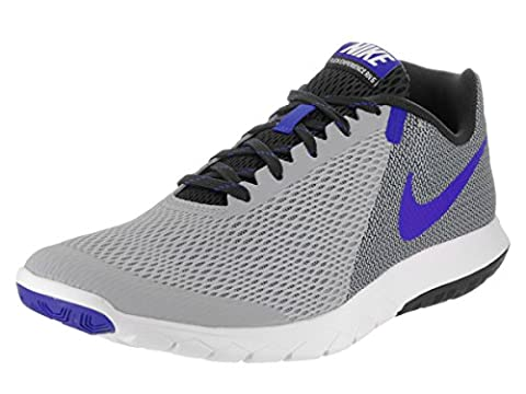 Nike Men's Flex Experience RN (Wolf Grey/Racer Blue/Blk/Wht) Running Shoe, 9 D(M) US - Grey Sports Shoes