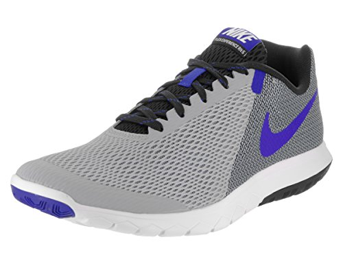 Nike Men's Flex Experience RN 4 (Grey Blue Black White) Running Shoe, 11.5 D(M) US