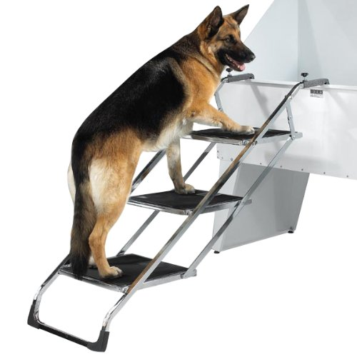 Master Equipment PetEdge Grooming Tub Pet Stairs - Non-Skid Stairs Allow Pets to Climb to Tub or Grooming Table Surface