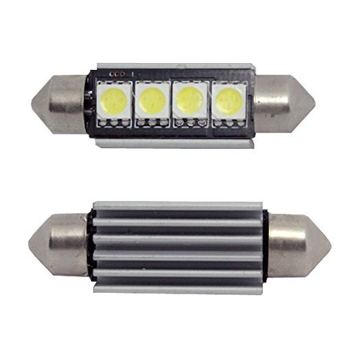 Inlink 10pcs White Error Free Festoon canbus 4SMD 5050 42mm LED Car LED License Plate Light Festoon LED Bulb Festoon Dome Lamp DC 12V