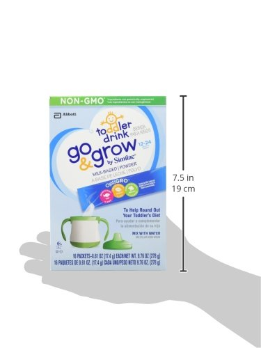 Go & Grow By Similac Non-GMO Milk Based Toddler Drink, Powder Stick Packs, 64 count by Similac (Image #7)
