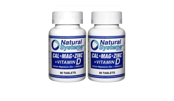Amazon.com: Natural Systems 2 PACK Calcium Magnesium Zinc + Vitamin D 2x90 Tablets Healthy Body: Health & Personal Care
