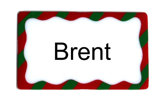 Brent Personalize Christmas Name Plate