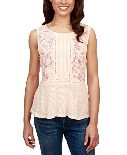 Lucky Brand Women's Embroidered Ladder-Trim Sleeveless Top