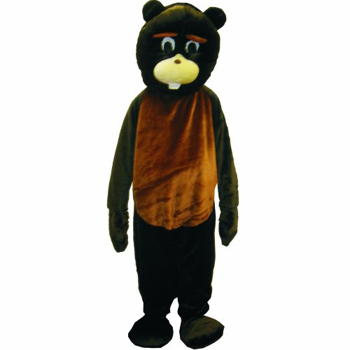 Dress Up America Beaver Mascot, Brown, One Size