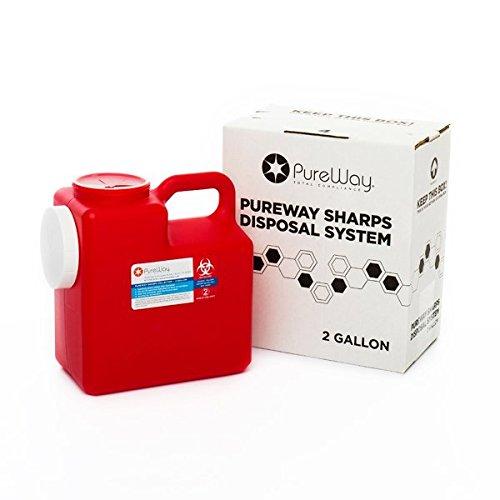 PureWay 2 Gallon PureWay Sharps Disposal System by Pureway