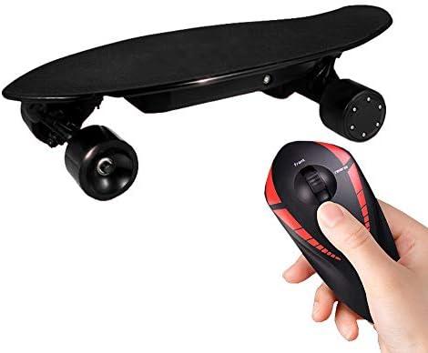 WOTR Planche à roulettes électrique, Tout-Terrain Télécommande Skateboard électrique, Commande électromagnétique, Protection Contre Les défauts, Vitesse maximale 12-30KM / H, IP54 étanche