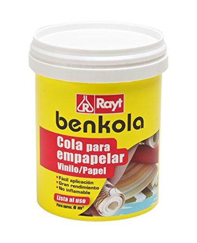 Rayt 1760-09 Benkola Cola para empapelar Lista al Uso Pintado o Vinilo con Dorso de Papel o Tejido, 1kg