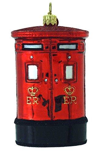 (Landmark Creations Royal Mail Box European Glass Christmas)