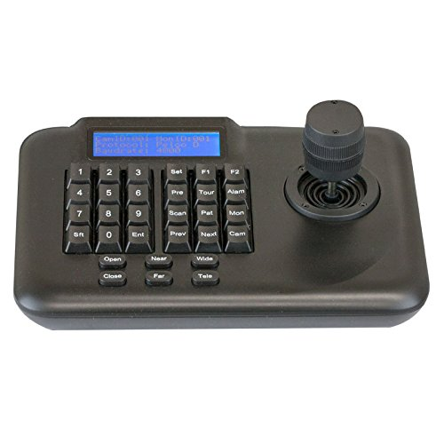 GW Security Pan Tilt Zoom PTZ Controller with 3 axis Joystick LCD Display CCTV Dome Camera 3D Keyboard - Camera Joystick