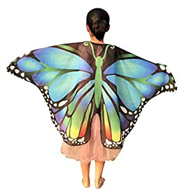 - 41BMFSQ5DEL - Yezijin Halloween Costumes, Children Kids Butterfly Print Wings Shawl Scarves Poncho Costume Accessory