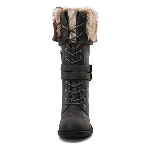 Botas De Invierno De Moda Para Mujer Yy02grey