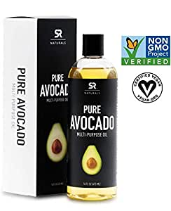 Pure Avocado Oil for Hair, Skin, Aromatherapy, Massage & More ~ 100% Natural and Non-GMO Project Verified (16oz)