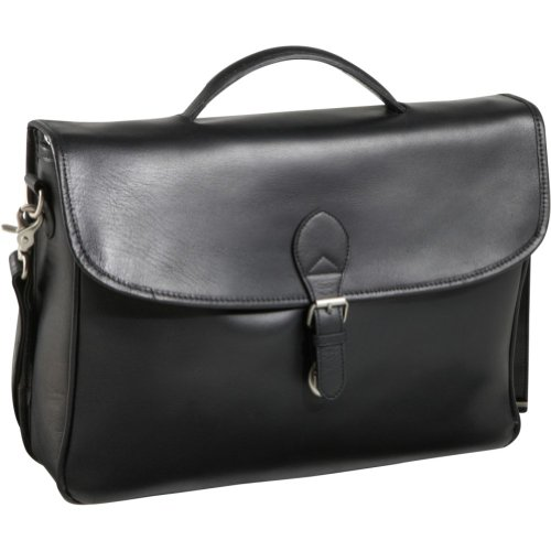AmeriLeather Montana Leather Executive Briefcase (Black), Bags Central