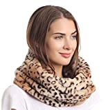 La Carrie Womens Faux Fur Leopard Print Infinity
