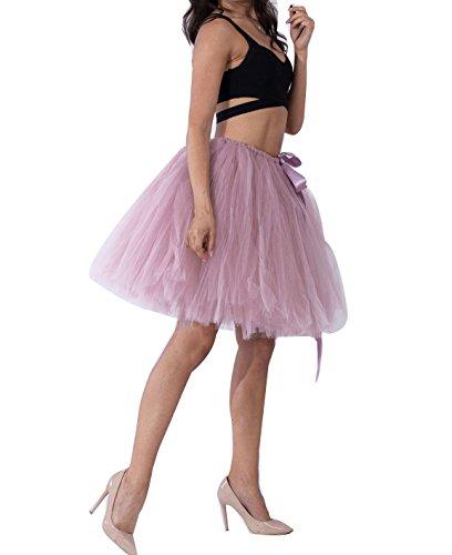 Multi Fonc Vintage Princesse Haute Tulle Taille Pettiskirt couche Pink Tutu au en Genou Femme Ballet Jupe 8HB6w11x