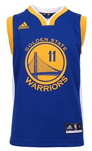 - NBA Golden State Warriors Thompson K # 11 Boys 8-20 Replica Road Jersey, Medium (10/12), Blue
