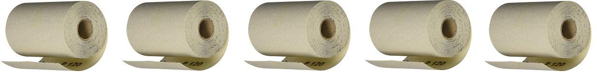PORTER-CABLE 740001201 4 1/2-Inch by 10yd 120 Grit Adhesive-Backed Sanding Roll (5-(Pack))