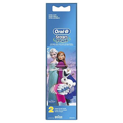 Oral-B Stages Power 2x Ersatz-Aufsteckbürsten (mit 2 Figuren aus Disneys, Die Eiskönigin - Völlig unverfroren)