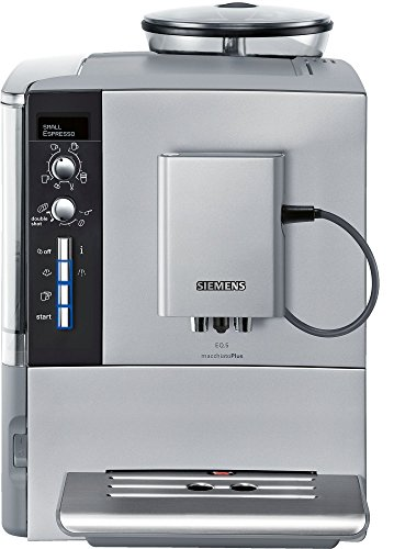 - Siemens super-automatic espresso coffee machine with grinder, double boiler, milk frother, maker for brewing espresso, cappuccino, latte, macchiato, flat white EQ.6 EQ.9 EQ.5 TE515201RW.