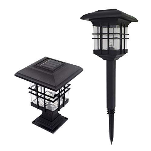 Iulove Solar Energy Head Lamp Outdoor Waterproof Decorative Wall Lamp ()