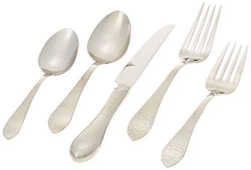Reed & Barton Hammered Antique 18/10 Stainless Steel 5-Piece Place Setting, Service for 1 (Open Stock Dinnerware Collection)