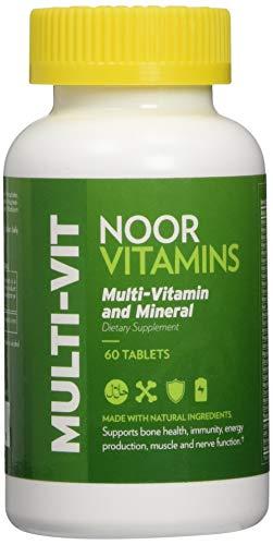 - NoorVitamins Multi-Vitamin and Mineral - 60 Tab - Halal Vitamins