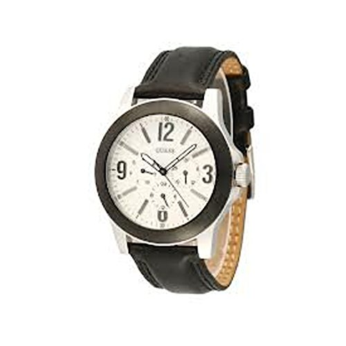 Guess Mens Black Leather Watch W10582g1
