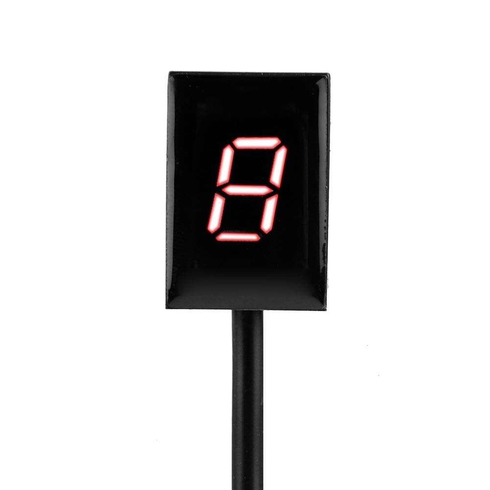 Rotes Licht EBTOOLS ABS Ganganzeige 6 Gang Digitale Schalthebelsensoren Motorrad Display Tacho Universal Fit