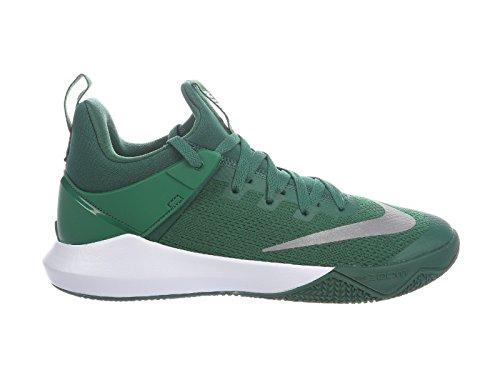 NIKE Mens Zoom Shift Gorge Green/White Nylon Basketball Shoes 7.5 D(M) US