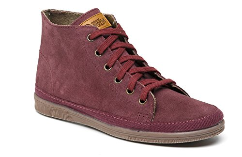 Violet World Femme Bordeaux Natural Pour Baskets ISpwpqz