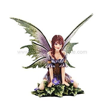 (*New* 2013 Amy Brown Fantasy Wild Violet Faery Mushroom Fairy Statue Enchanted 6