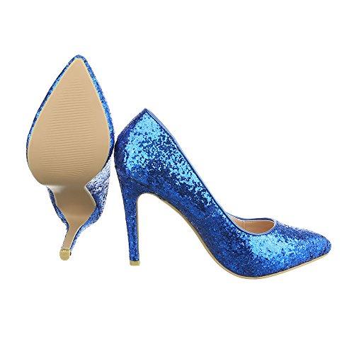 Ital-Design , chaussures compensées femme Bleu