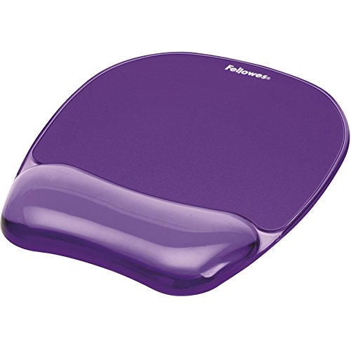 Gel Crystal Transparent Mousepad and Wrist Rest - Purple