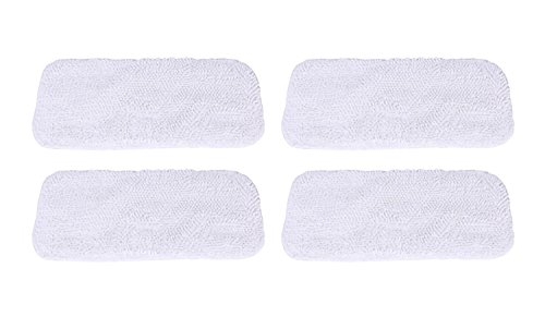 GIBTOOL Replacement Luna Cloth Pads for Sienna Luna Steam Mop Head SSM-3006 Microfiber Mop Pads 4 Pcs (4)