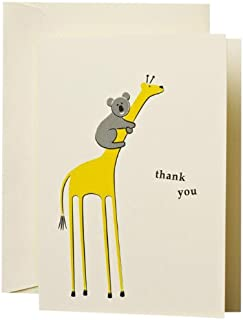 product image for Crane & Co. Koala and Giraffe Thank You Note (CT1339)
