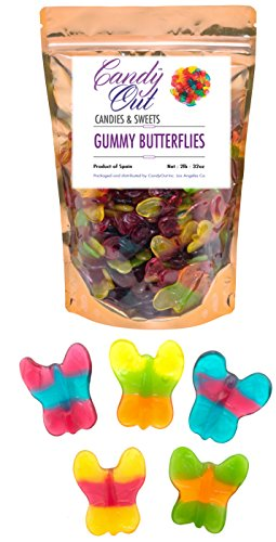 CandyOut Gummy Butterflies 2 Pound in Sealed Resealable Stand Up Bag]()