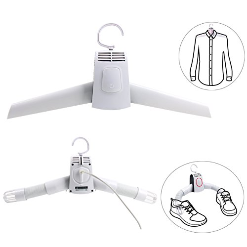 YaeTek Mini Portable Clothing Drying Hanger, Compact Electric Clothes Drying Rack, Smart Shoes Dryer Heater Great for Travel Business Home