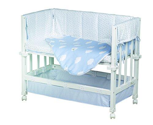 Roba stubenbett 3 in 1 kleine wolke blau beistellbett babybett