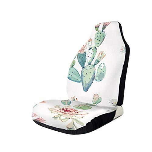 Car Seat Covers Cactus Pink Flower Elastic Full Set Car Seat Protectors Universal Car Seat Accessories,2 PCS