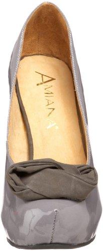 Amiana Womens 12-137014 Platform Pump Grey