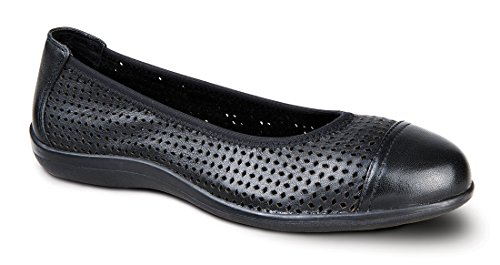 Revere Rhodes Scarpa Comfort Donna Con Plantare Rimovibile: Nero 9 Medium (b) Slip On