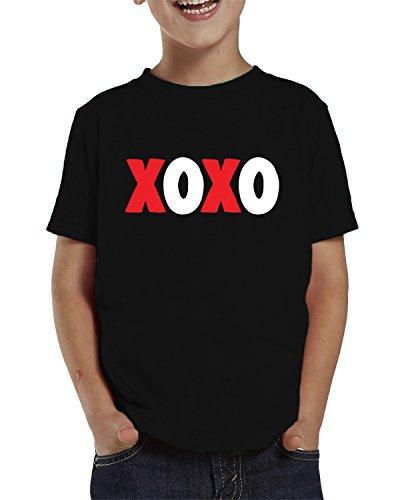 SpiritForged Apparel XOXO Hugs & Kisses Toddler T-Shirt, Black 4T