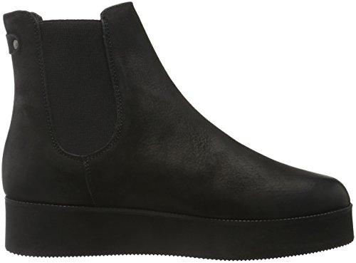 Bianco Flatform Chelsea Jja16, Zapatillas De Estar por Casa para Mujer Negro - Schwarz (10/Black)