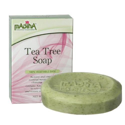 Мадина Снятие напряжения Бар чайного дерева Мыло - 100% растительной основе
