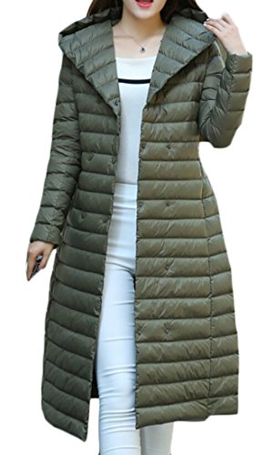 Winter with Belt Down amp;W Coat Packable Parka Hooded Jacket Women's M Weight 2 Outwear amp;S Light Long Puffer nCRZqwWF10